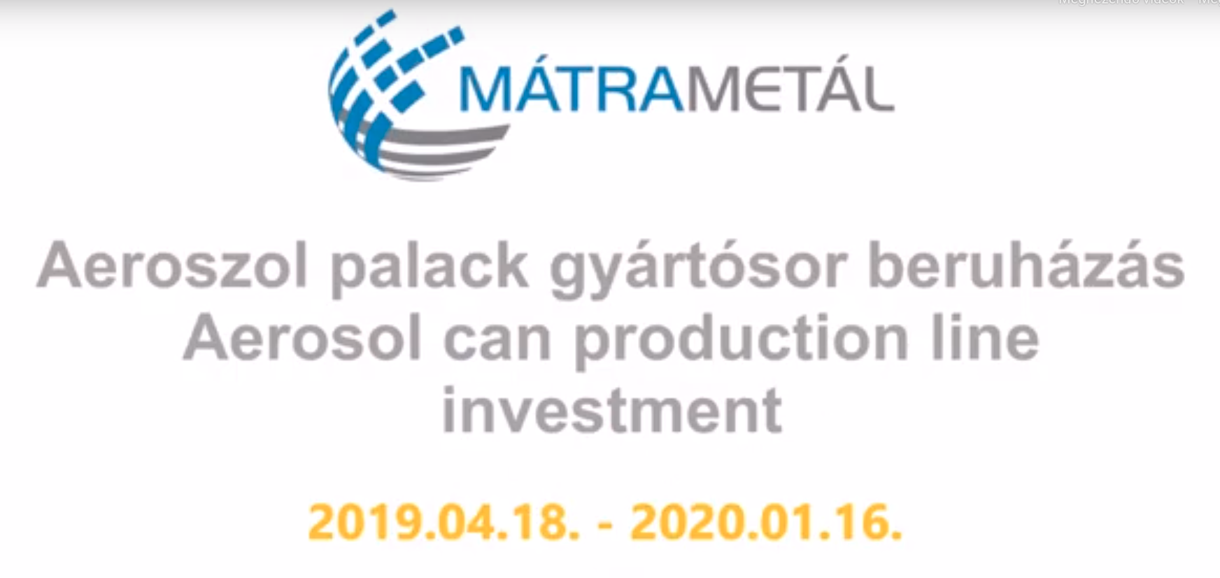 AEROSOL PALACK GYÁRTÓSOR BERUHÁZÁS 2019.04.18.-2020.01.16.